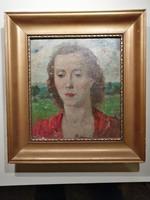 Belányi Viktor olajfestmény -  Női portré