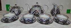 Antik porcelán teáskészlet
