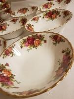 6 db Royal Albert Old Country Roses csontporcelán salátás tálkák