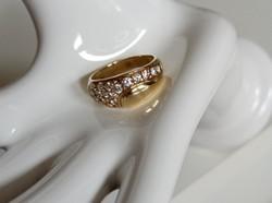 14K-os, köves arany gyűrű 13.600/g