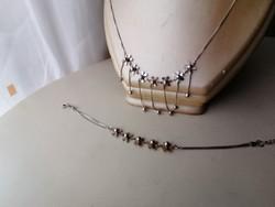 Ezüst nyaklánc nyakék és karlánc szett 925