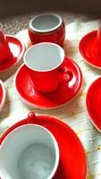 Piros kávés csésze 6 darab