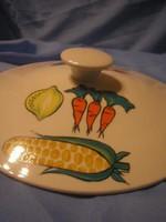 N19 Porcelán ízléses festett fedő hibátlan  állapotban eladó