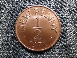 Guernsey II. Erzsébet 1/2 új penny 1971 (id42074)