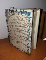 Antik Könyv Butella mind Két Oldalt Feliratos RITKA DARAB!!