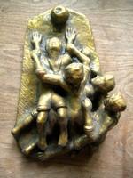 P.J.: Küzdelem az élet almájáért - antik, festett terrakotta
