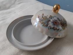 Orosz porcelán vajtartó