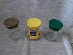 Kávésüvegek tetővel tároláshoz (Tchibo kávé, üveg) 1.