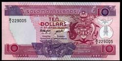 Salamon-szigetek 10 dollár UNC 1986