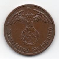 Németország 1 német birodalmi pfennig, 1939A