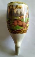 Antik porcelán pipa - vadász