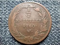 Ausztria Mária Terézia (1740-1780) 1/2 Krajcár 1780 W (id43069)