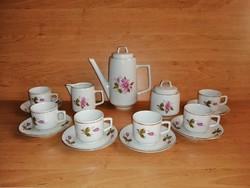 Régi jelzett porcelán kávéscsésze készlet 6 személyes (z-4)