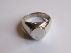Ezüst, széles pecsét gyűrű, férfi - női