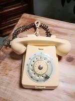 Tárcsás telefon vajszínű,retro