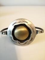 Rézbolygó ezüst karperec