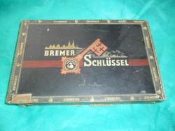 Bremer Schlüssel antik német szivaros díszdoboz