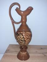 #104, nagy szép kerámia kancsó vintage 45cm magas