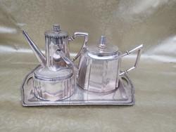 Antik ezüst teás kávés szett. 1867 utáni. Mesterjegyes 2850g