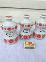 3 darab Alföldi porcelán fűszertartó tartó - tea - kávé - babérlevél - 14 cm