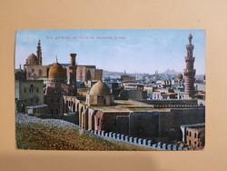Antik levelezőlap - fotó képeslap, Egyiptom ,Kairó,  1909