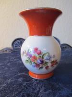 Porcelán virág diszitésü váza Ilmenau