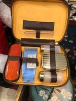 Férfi pipere táska, a 60-as évekből, nem használt, gyűjtőknek.