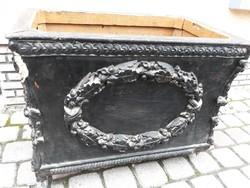 Barokk láda,eredeti állapotban (vadászláda)- Restaurátorok figyelmébe ajánlom