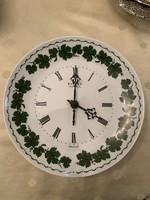Thüringiai porcelán falióra weimarI Quartz felirat