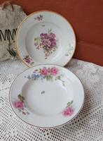 Gyönyörű virágos falitányérok tányérok Falitányér  porcelán  rózsás virágos Gyűjtői darab