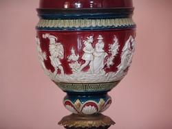 Antik dekoratív petróleum lámpa