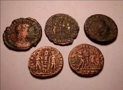 5 darab római érme