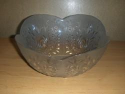 Nagy méretű öblös üveg kínáló asztalközép (afp-27)