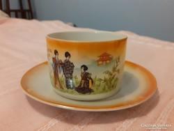 Zsolnay gésás teás csésze és alj  pótlásnak