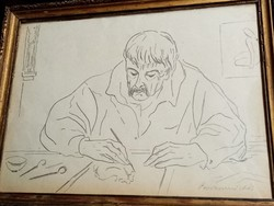 Borsos Miklós ceruza rajz