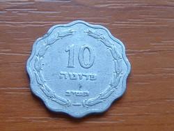 IZRAEL 10 PRUTA 1952 5712 ALU. VÁZA #