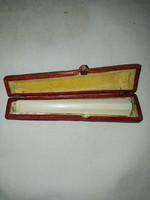 Régi csont szipka, eredeti dobozában( jelzett)