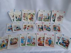 Retró, német nyelvoktató kártya gyerekeknek