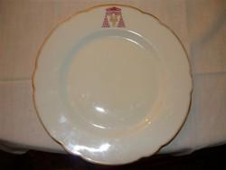 Vaszary Kolos hercegprímás aranyszélű monogramos tányér