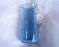 Kék fátyolüveg kancsó 19,5cm