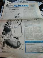 Régi újság , Szilveszteri Népszabi 1985 .december