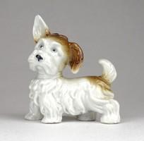 1C614 Régi Wagner & Apel fülelő porcelán kutya 7 cm