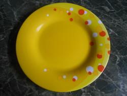 Luminarc kistányér lapos francia üveg sárga 19,5 cm