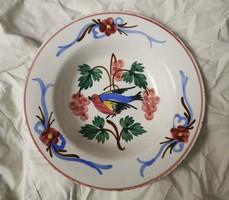 HOLLÓHÁZI madaras tányér, ritka falitányér