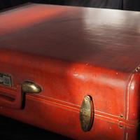 Samsonite Amerikai Marhabőr Koffer Bőrönd Táska Steamlite Barna Nagy Eredeti Erős Kemény Márkás USA
