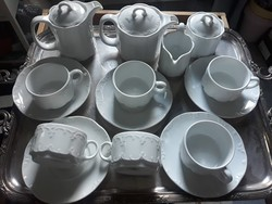 Art deco stilusú Rosenthal teás/kávés készlet 2 féle kannával/Kombinált készlet kávés/teás kannával