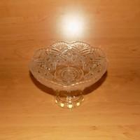 Antik talpas üveg tál sütemény vagy gyümölcskínáló asztalközép (3)