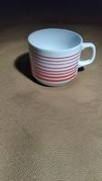 Zsolnay csíkos csésze kávés