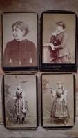 Vizitkártyák  hölgyek 1880-1900 db