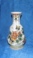 Ritka vintage RAAM Delft polikróm kézzel festett porcelán váza 21,5 cm